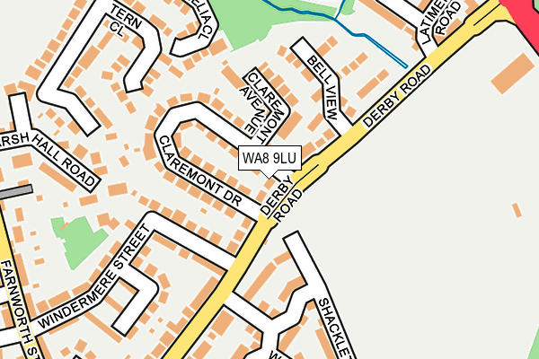WA8 9LU map - OS OpenMap – Local (Ordnance Survey)