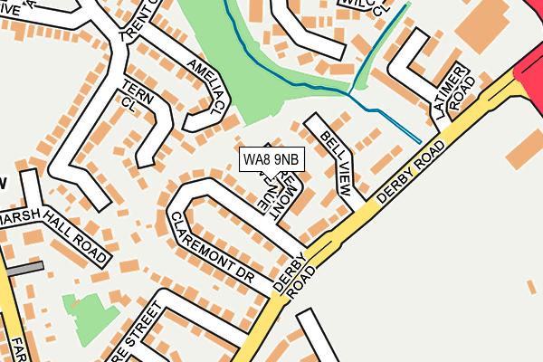 WA8 9NB map - OS OpenMap – Local (Ordnance Survey)