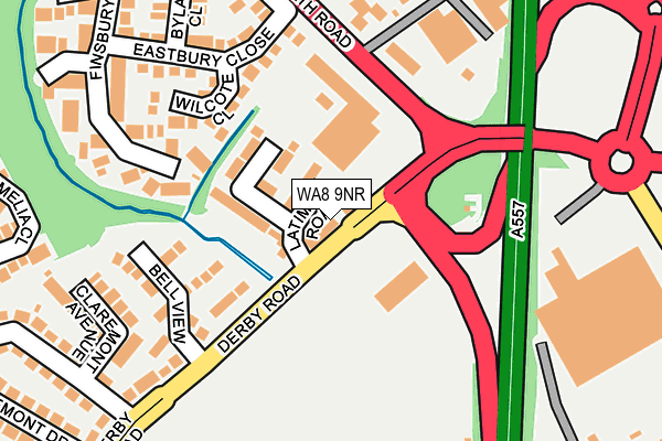 WA8 9NR map - OS OpenMap – Local (Ordnance Survey)
