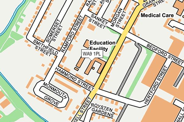 WA9 1PL map - OS OpenMap – Local (Ordnance Survey)