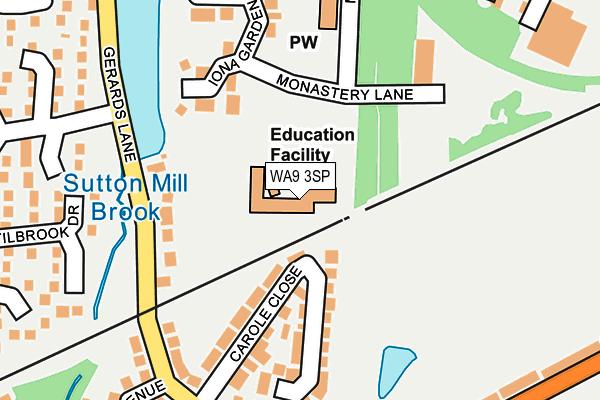 WA9 3SP map - OS OpenMap – Local (Ordnance Survey)