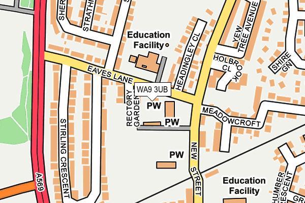 WA9 3UB map - OS OpenMap – Local (Ordnance Survey)