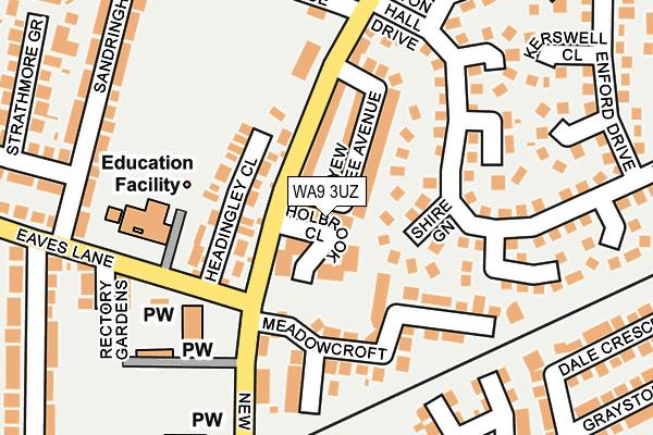 WA9 3UZ map - OS OpenMap – Local (Ordnance Survey)