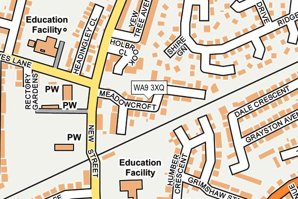 WA9 3XQ map - OS OpenMap – Local (Ordnance Survey)