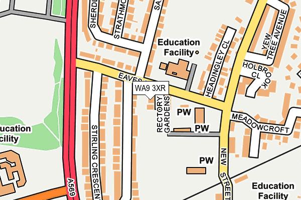 WA9 3XR map - OS OpenMap – Local (Ordnance Survey)