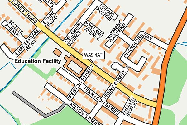 WA9 4AT map - OS OpenMap – Local (Ordnance Survey)