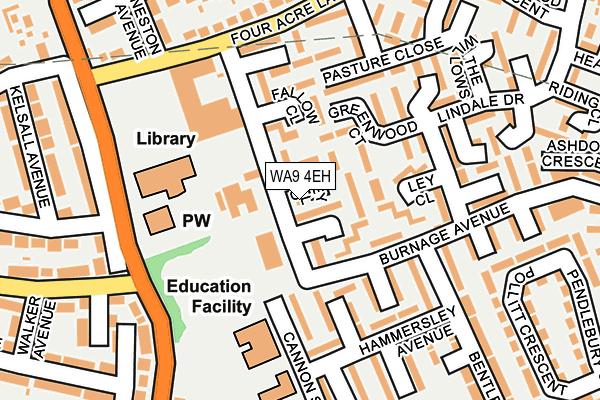 WA9 4EH map - OS OpenMap – Local (Ordnance Survey)