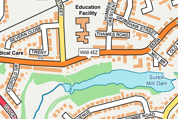 WA9 4EZ map - OS OpenMap – Local (Ordnance Survey)