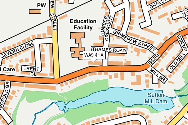 WA9 4HA map - OS OpenMap – Local (Ordnance Survey)