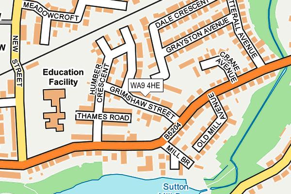WA9 4HE map - OS OpenMap – Local (Ordnance Survey)