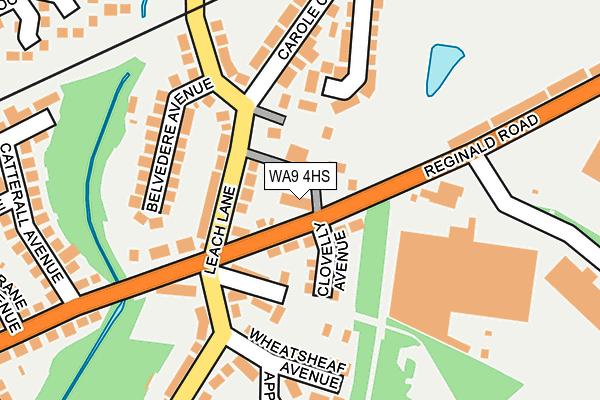 WA9 4HS map - OS OpenMap – Local (Ordnance Survey)