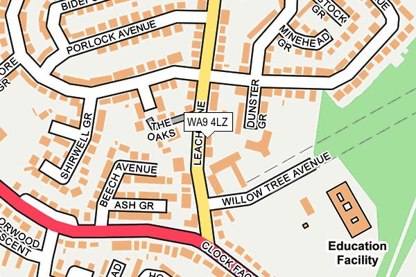 WA9 4LZ map - OS OpenMap – Local (Ordnance Survey)