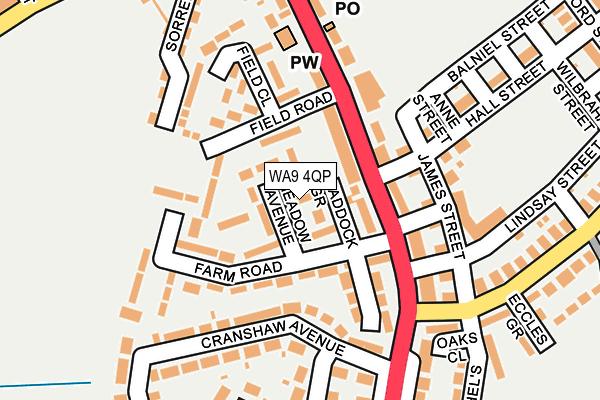 WA9 4QP map - OS OpenMap – Local (Ordnance Survey)