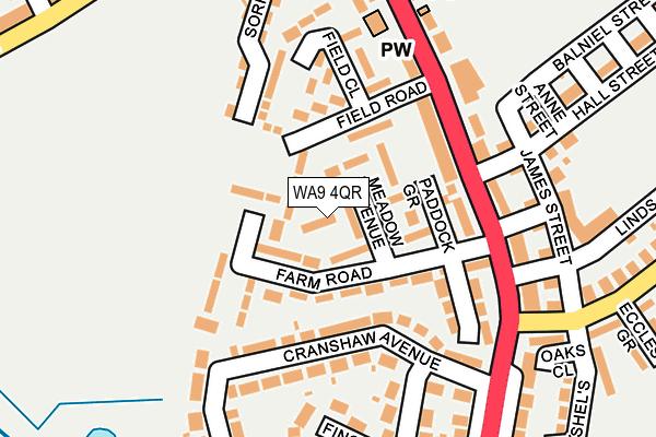 WA9 4QR map - OS OpenMap – Local (Ordnance Survey)