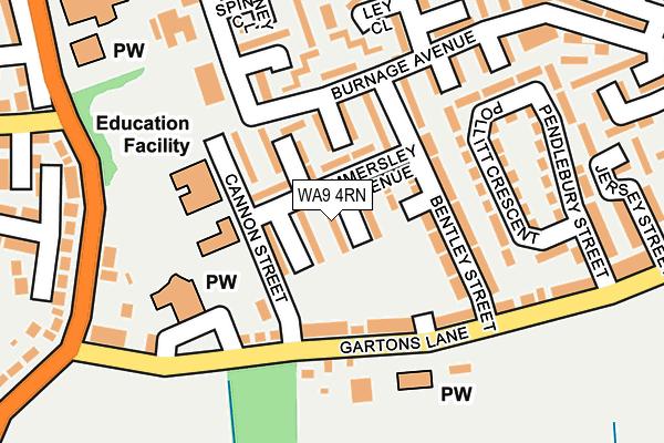 WA9 4RN map - OS OpenMap – Local (Ordnance Survey)