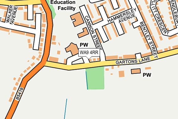 WA9 4RR map - OS OpenMap – Local (Ordnance Survey)