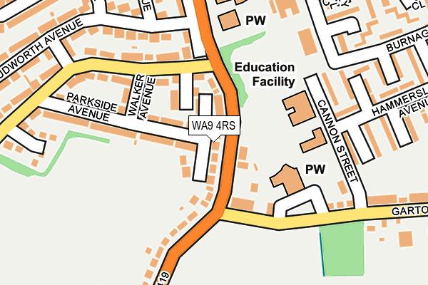 WA9 4RS map - OS OpenMap – Local (Ordnance Survey)