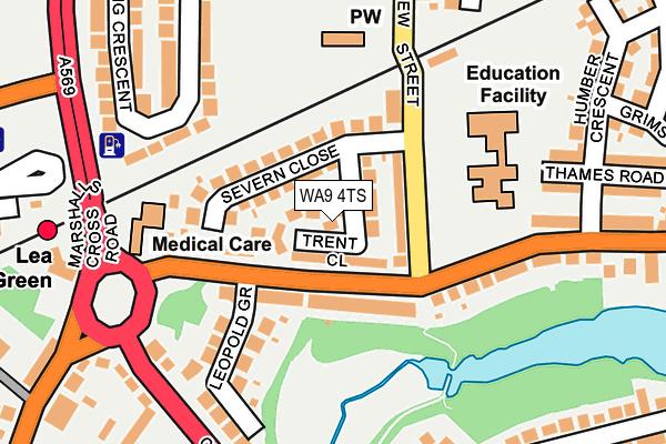 WA9 4TS map - OS OpenMap – Local (Ordnance Survey)