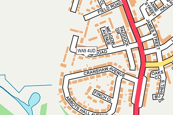 WA9 4UD map - OS OpenMap – Local (Ordnance Survey)