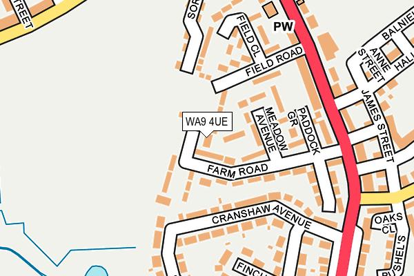 WA9 4UE map - OS OpenMap – Local (Ordnance Survey)