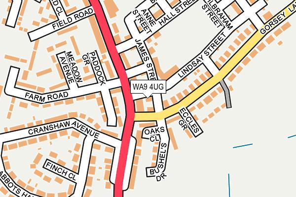 WA9 4UG map - OS OpenMap – Local (Ordnance Survey)