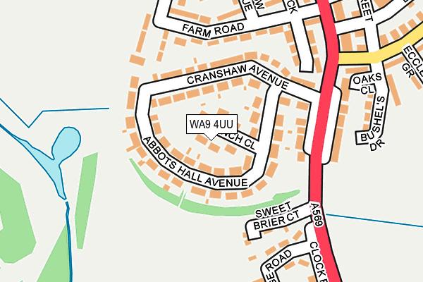 WA9 4UU map - OS OpenMap – Local (Ordnance Survey)