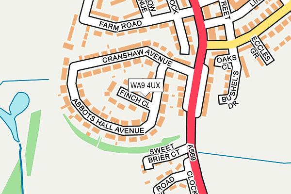 WA9 4UX map - OS OpenMap – Local (Ordnance Survey)