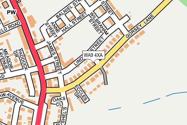 WA9 4XA map - OS OpenMap – Local (Ordnance Survey)