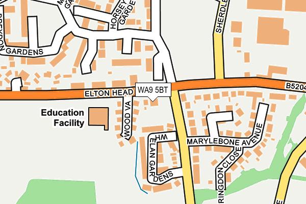 WA9 5BT map - OS OpenMap – Local (Ordnance Survey)