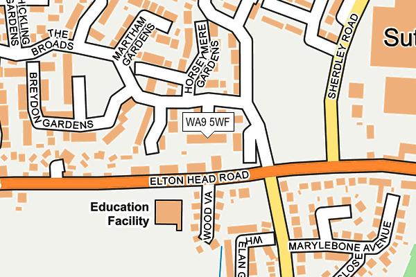 WA9 5WF map - OS OpenMap – Local (Ordnance Survey)