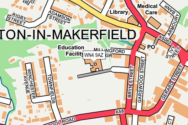 WN4 9AZ map - OS OpenMap – Local (Ordnance Survey)