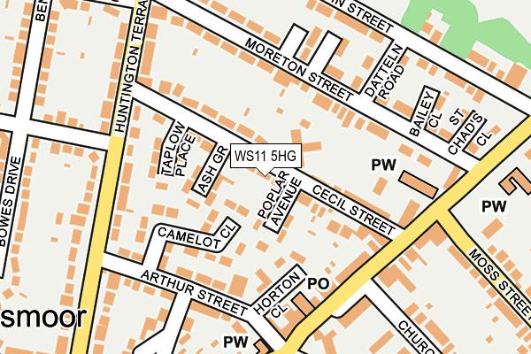 WS11 5HG map - OS OpenMap – Local (Ordnance Survey)