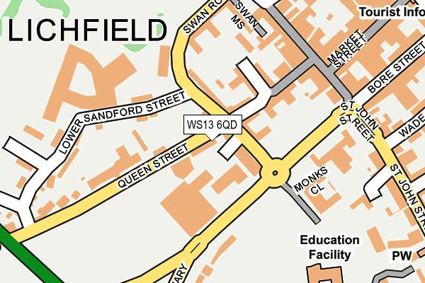 WS13 6QD map - OS OpenMap – Local (Ordnance Survey)