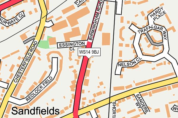 WS14 9BJ map - OS OpenMap – Local (Ordnance Survey)