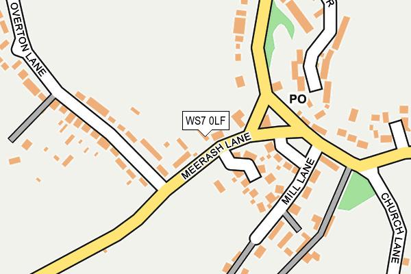 WS7 0LF map - OS OpenMap – Local (Ordnance Survey)