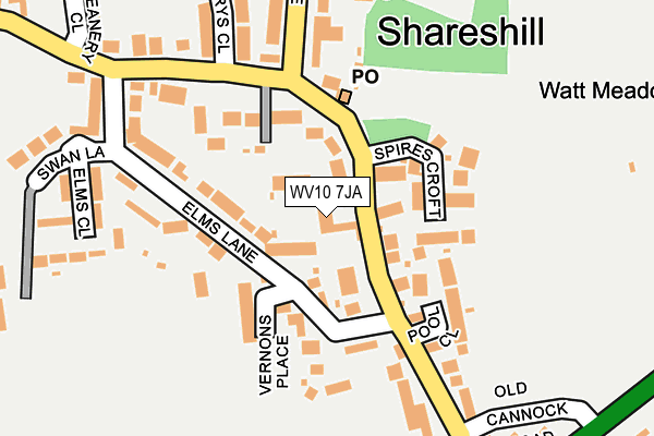 WV10 7JA maps, stats, and open data