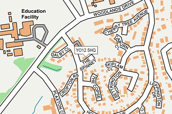 YO12 5HQ maps, stats, and open data