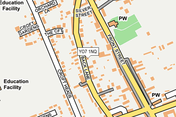Map of NORTH YORKSHIRE HEATING LTD at local scale